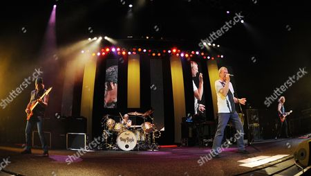 Roger Glover, Ian Gillan, Ian Paice, Don Airey and Steve Morse of Deep Purple perform on the final night of the 2014 Tour at the Seminole Hotel and Casinos Hard Rock Live on in Hollywood, Florida