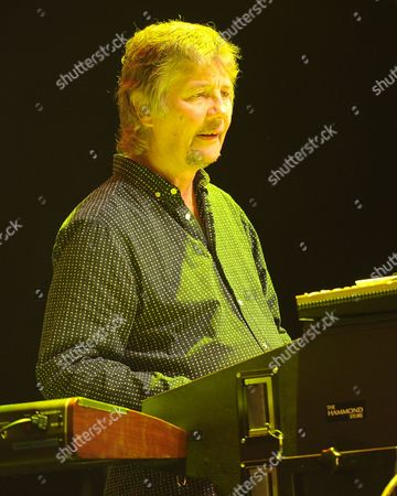 Don Airey of Deep Purple performs on the final night of the 2014 Tour at the Seminole Hotel and Casinos Hard Rock Live on in Hollywood, Florida