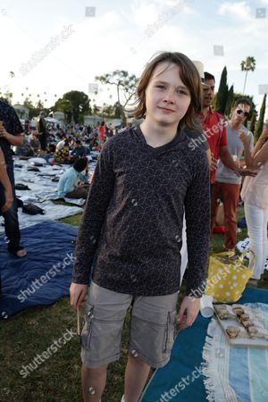 """Hays Wellford seen at Focus World screening of """"Cop Car"""" at the Hollywood Forever cemetery, in Hollywood, CA"""
