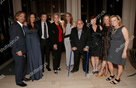 """William H. Macy, Moon Bloodgood, John Hawkes, Cheryl Cohen Greene, Helen Hunt, Ben Lewin, Judi Levin, Claudia Lewis and Nancy Utley attend Fox Searchlight's """"The Sessions"""" Los Angeles Premiere After Party at LACMA,, in Los Angeles"""