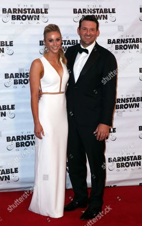Tony Romo and wife Candice Crawford attends the G.H. Mumm Champagne event at the Barnstable Brown Gala, in Louisville, Ky