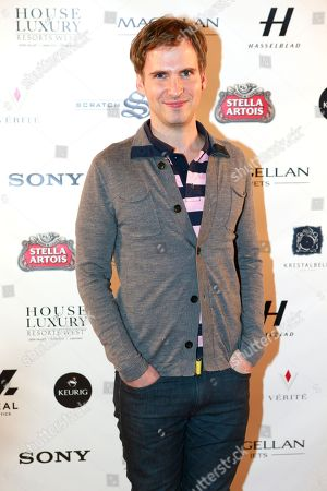 """Ryan Spahn from the film """"He's Way More Famous than You"""" is seen at Resorts West House of Luxury,, in Park City, Utah"""