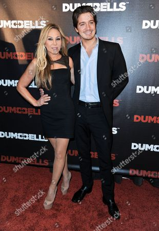 """Adrienne Maloof, left, and Jacob Busch arrives at the LA Premiere of """"Dumbbells"""" at Supperclub on in Los Angeles"""