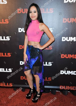 Deanna Pak arrives at the LA Premiere of 'Dumbbells' at Supperclub on in Los Angeles