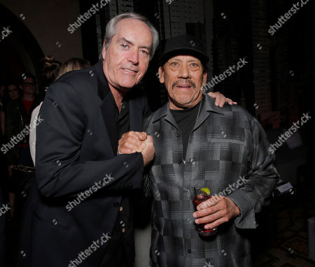 """Powers Boothe and Danny Trejo attend the after party for """"Sin City: A Dame to Kill For"""" premiere presented by Dimension Films at the Rosevelt Hotel, in Los Angeles"""