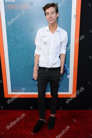 "Jack Baran arrives at the LA Premiere Of ""Me And Earl And The Dying Girl"" held at Harmony Gold Theater, in Los Angeles"