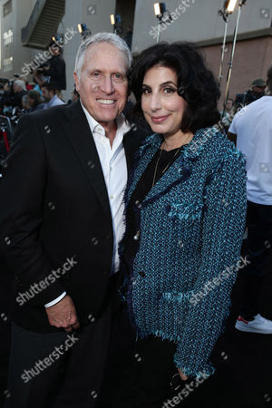 "Dan Fellman, President of Domestic Distribution for Warner Bros. Pictures and Sue Kroll, President of Worldwide Marketing and International Distribution at Warner Bros. Pictures seen at the Los Angeles Premiere of New Line Cinema ""The Gallows"" held at Hollywood High School on"