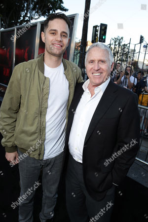 "Producer Dean Schnider and Dan Fellman, President of Domestic Distribution for Warner Bros. Pictures seen at the Los Angeles Premiere of New Line Cinema ""The Gallows"" held at Hollywood High School on"