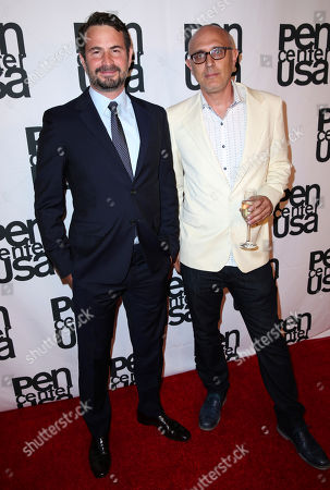 Mark Boal, left, and Joshua Wolf Shenk attend the 26th Annual PEN Center USA Literary Awards Festival at the Beverly Wilshire Hotel, in Beverly Hills, Calif