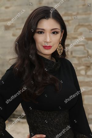 IMAGE DISTRIBUTED FOR RWE - Producer Rebecca Wang attends Elie Saab Fall-Winter 2013-2014 fashion collection at Paris Fashion week on
