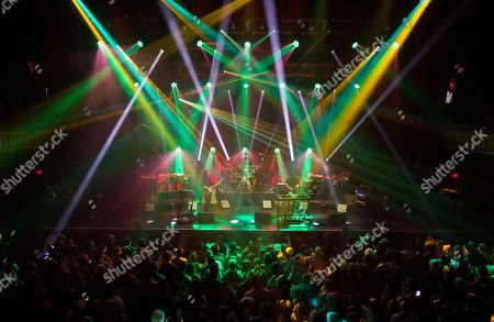Jeffree Lerner, Alana, Rocklin, Zach Velmer, Hunter Brown and David Philpps of STS9 (Sound Tribe Sector 9) perform in concert at The Tabernacle, in Atlanta, Ga