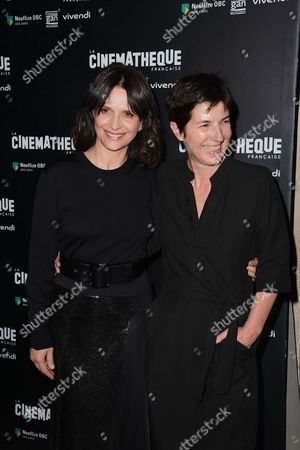 Juliette Binoche and co-scriptwriter Christine Angot