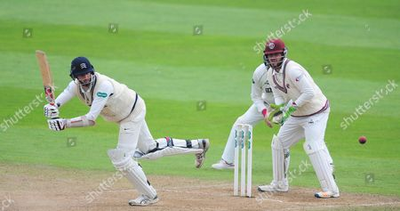 Steve Finn of Middlesex in action during the 2nd Day of the Division 1 Specsavers County Championship match between Somerset and Middlesex at The Cooper Associates County Ground, Taunton 26th September 2017(