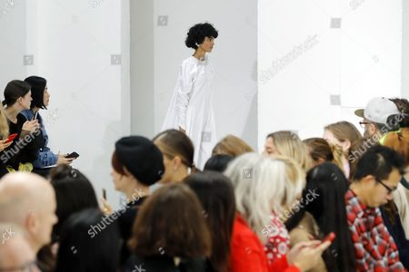 A model presents a creation from the Spring/Summer 2018 Ready to Wear collection by Ukrainian designer Julie Paskal during the Paris Fashion Week, in Paris, France, 26 September 2017. The presentation of the Women's collections runs from 25 September to 03 October.