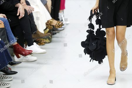 Stock Photo of A model presents a creation from the Spring/Summer 2018 Ready to Wear collection by Ukrainian designer Julie Paskal during the Paris Fashion Week, in Paris, France, 26 September 2017. The presentation of the Women's collections runs from 25 September to 03 October.