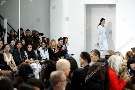 Stock Image of A model presents a creation from the Spring/Summer 2018 Ready to Wear collection by Ukrainian designer Julie Paskal during the Paris Fashion Week, in Paris, France, 26 September 2017. The presentation of the Women's collections runs from 25 September to 03 October.