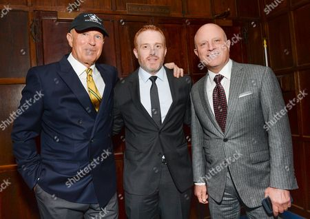 """Underwater archaeological explorer Barry IMAGE DISTRIBUTED FOR STARZ - Clifford, left, """"Black Sails"""" creator Jon Steinberg and Starz CEO Chris Albrecht attend a private dinner for the new Starz original series """"Black Sails"""" at the Explorers Club on in New York"""