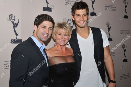 BEVERLY HILLS, CA - JUNE 16: Actors Judi Evans, Bren Foster and Casey -- attend a cocktail party presented by the Academy of Television Arts & Sciences' Daytime Programming Peer Group, in celebration of the 2011 Daytime Emmy Awards Nominees at the SLS Hotel at Beverly Hills on in Beverly Hills, California