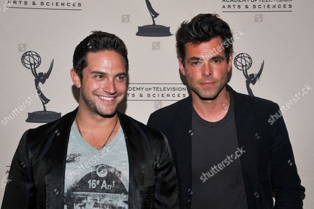 BEVERLY HILLS, CA - JUNE 16: Actors Brandon Barash and Jason Thompson attend a cocktail party presented by the Academy of Television Arts & Sciences' Daytime Programming Peer Group, in celebration of the 2011 Daytime Emmy Awards Nominees at the SLS Hotel at Beverly Hills on in Beverly Hills, California