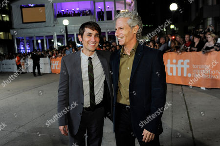 "Scott McGehee, left, and David Siegel, co-directors of the film ""What Maisie Knew,"" pose together at the premiere of the film at the 2012 Toronto Film Festival, in Toronto"