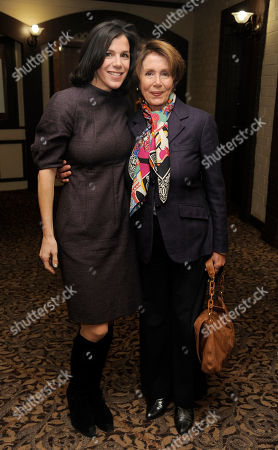 "Alexandra Pelosi, left, director of HBO Documentary Films' ""Fall to Grace,"" poses with her mother Nancy Pelosi, Minority Leader of the U.S. House of Representatives, before a screening of the film at the 2013 Sundance Film Festival, in Park City, Utah"