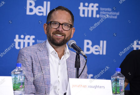 """Stock Image of Jonathan Vaughters attends the press conference for """"The Armstrong Lie"""" on day 5 of the Toronto International Film Festival at the TIFF Bell Lightbox, in Toronto"""