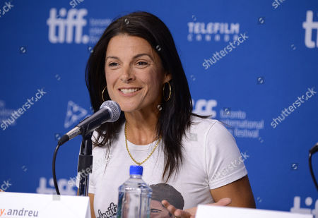 """Betsy Andreu attends the press conference for """"The Armstrong Lie"""" on day 5 of the Toronto International Film Festival at the TIFF Bell Lightbox, in Toronto"""