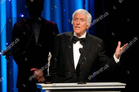 Actor Dick Van Dyke accepts the Prince Rainier III Award during the 2014 Princess Grace Awards Gala at the Beverly Wilshire Hotel, in Beverly Hills, Calif
