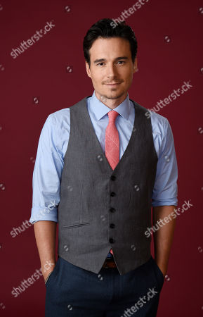 """Daniel Bonjour, a cast member in The CW series """"Frequency,"""" poses for a portrait during the 2016 Television Critics Association Summer Press Tour at the Beverly Hilton, in Beverly Hills, Calif"""