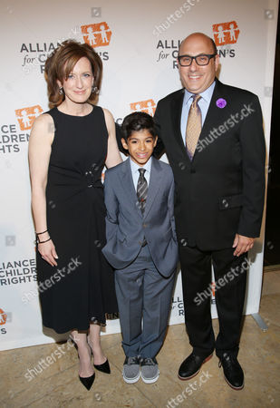 From left, Anne Sweeney, Nathen Garson, and Willie Garson arrive at the 22nd Annual Alliance for Children's Rights Dinner at The Beverly Hilton Hotel on in Beverly Hills, Calif