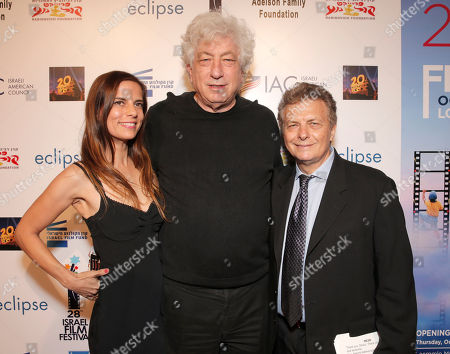 Lati Grobman, Avi Lerner and IFF Founder Meir Fenigstein attend the Opening Night Gala for the 28th Israel Film Festival at the Saban Theatreon in Beverly Hills, Calif