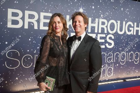 Stock Photo of Trevor & Alexis Traina Trevor Traina, right, and Alexis Traina arrive at the 2nd Annual Breakthrough Prize Award Ceremony at the NASA Ames Research Center on in Mountain View, Calif