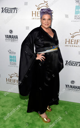"""Actress Mindy Cohn poses at the 4th Annual Beyond Hunger: """"A Place at the Table"""" gala at the Montage Hotel, in Beverly Hills, Calif"""