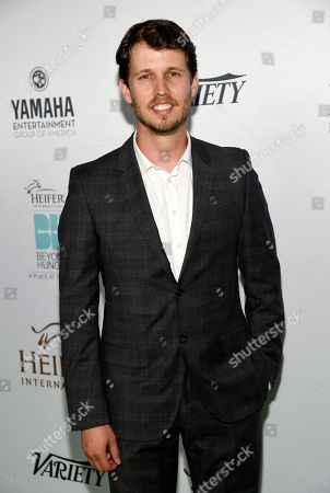 "Actor Jon Heder poses at the 4th Annual Beyond Hunger: ""A Place at the Table"" gala at the Montage Hotel, in Beverly Hills, Calif"