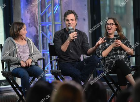 """Actress Imogene Wolodarsky, left, actor Mark Ruffalo and director Maya Forbes participate in AOL's BUILD Speaker Series to discuss the new film, """"Infinitely Polar Bear"""", at AOL Studios, in New York"""