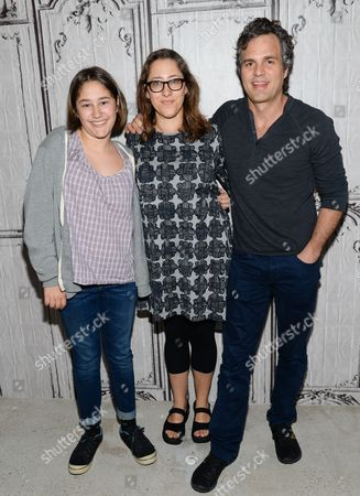 """Actress Imogene Wolodarsky, left, director Maya Forbes and actor Mark Ruffalo participate in AOL's BUILD Speaker Series to discuss the new film, """"Infinitely Polar Bear"""", at AOL Studios, in New York"""