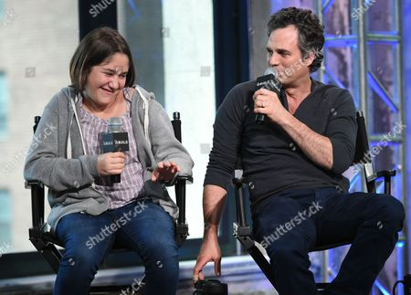 """Actors Imogene Wolodarsky and Mark Ruffalo participate in AOL's BUILD Speaker Series to discuss the new film, """"Infinitely Polar Bear"""", at AOL Studios, in New York"""
