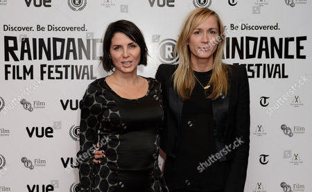 Sadie Frost and Emma Comley arrive for the Raindance Film festival Opening Gala of I Origins at a central London cinema, London