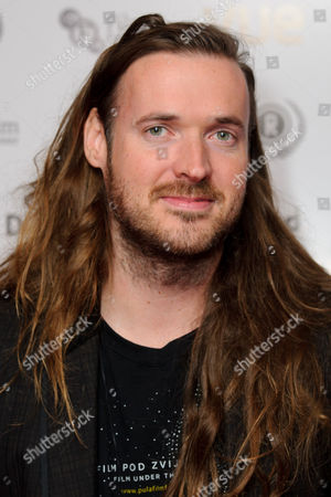Director, Mike Cahill arrives for the Raindance Film festival Opening Gala of I Origins at a central London cinema, London