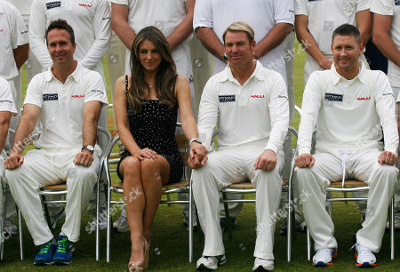 Editorial photo of Elizabeth Hurley attends Cricket for Kids in Cirencester