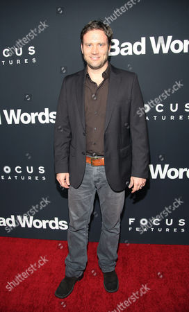 """Stock Picture of Greg Cromer arrives at LA Premiere of """"Bad Words"""" on in Los Angeles, Calif"""