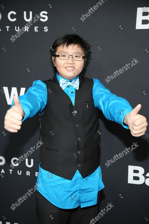 """Stock Image of Matthew Zhang arrives at LA Premiere of """"Bad Words"""" on in Los Angeles, Calif"""