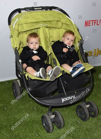 """Dashiell Messitt and Fox Messitt attend the premiere of """"Fuller House"""" on in Los Angeles"""