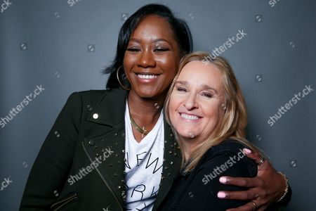 "Singers Melissa Etheridge, right, and Priscilla Renea pose for a portrait in Hidden Hills, Calif. The pair are set to perform and share stories about their experiences in the music industry at the ASCAP ""I Create Music"" songwriting expo in Los Angeles on April 28. The three-day conference also promises appearances by Timbaland, Pat Benetar, singer Andra Day and Matchbox Twenty front man Rob Thomas"