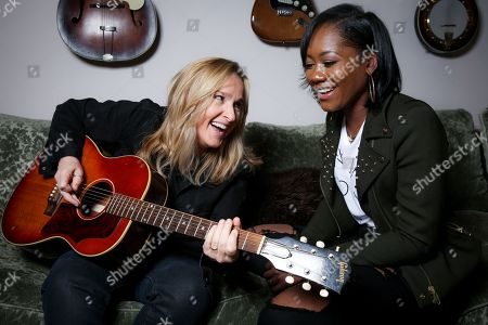 "Singers Melissa Etheridge, left, and Priscilla Renea pose for a portrait in Hidden Hills, Calif. The pair are set to perform and share stories about their experiences in the music industry at the ASCAP ""I Create Music"" songwriting expo in Los Angeles on April 28. The three-day conference also promises appearances by Timbaland, Pat Benetar, singer Andra Day and Matchbox Twenty front man Rob Thomas"