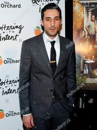 """Michael Godere attends the premiere of """"Loitering With Intent"""" at the SVA Theater, in New York"""