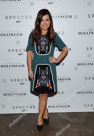 """Gretta Monahan attends a pre-release special screening of """"Spectre"""", hosted by Champagne Bollinger with The Cinema Society, at the IFC Center, in New York"""
