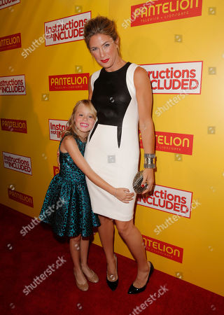"""Loreto Peralta and Jessica Lindsey attend the Pantelion Films' """"Instructions Not Included"""" Los Angeles Premiere, on Thursday, August, 22, 2013 in Los Angeles"""