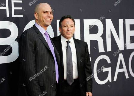 """Stock Photo of Producers Ben Smith, left, and Jeffrey M. Weiner attend the world premiere of """"The Bourne Legacy"""" at the Ziegfeld Theatre on in New York"""