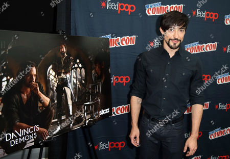 "Blake Ritson, from the STARZ original series ""Da Vinci's Demons"", poses for a photo at New York Comic Con on in New York"